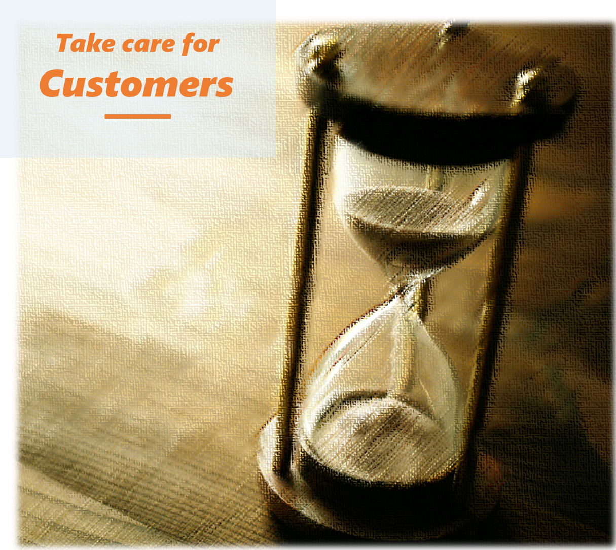 take care for customers